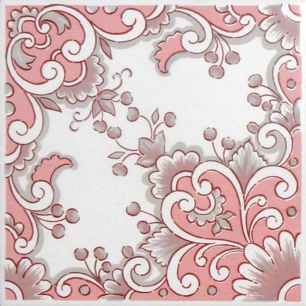 azulejos portugueses ap0366 colonial dartagnan rosa - Azulejos Rosa